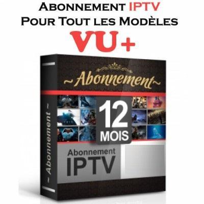 abonnement iptv vu+ 12 mois