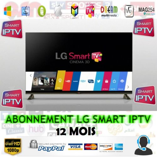abonnement smart iptv LG 12 mois