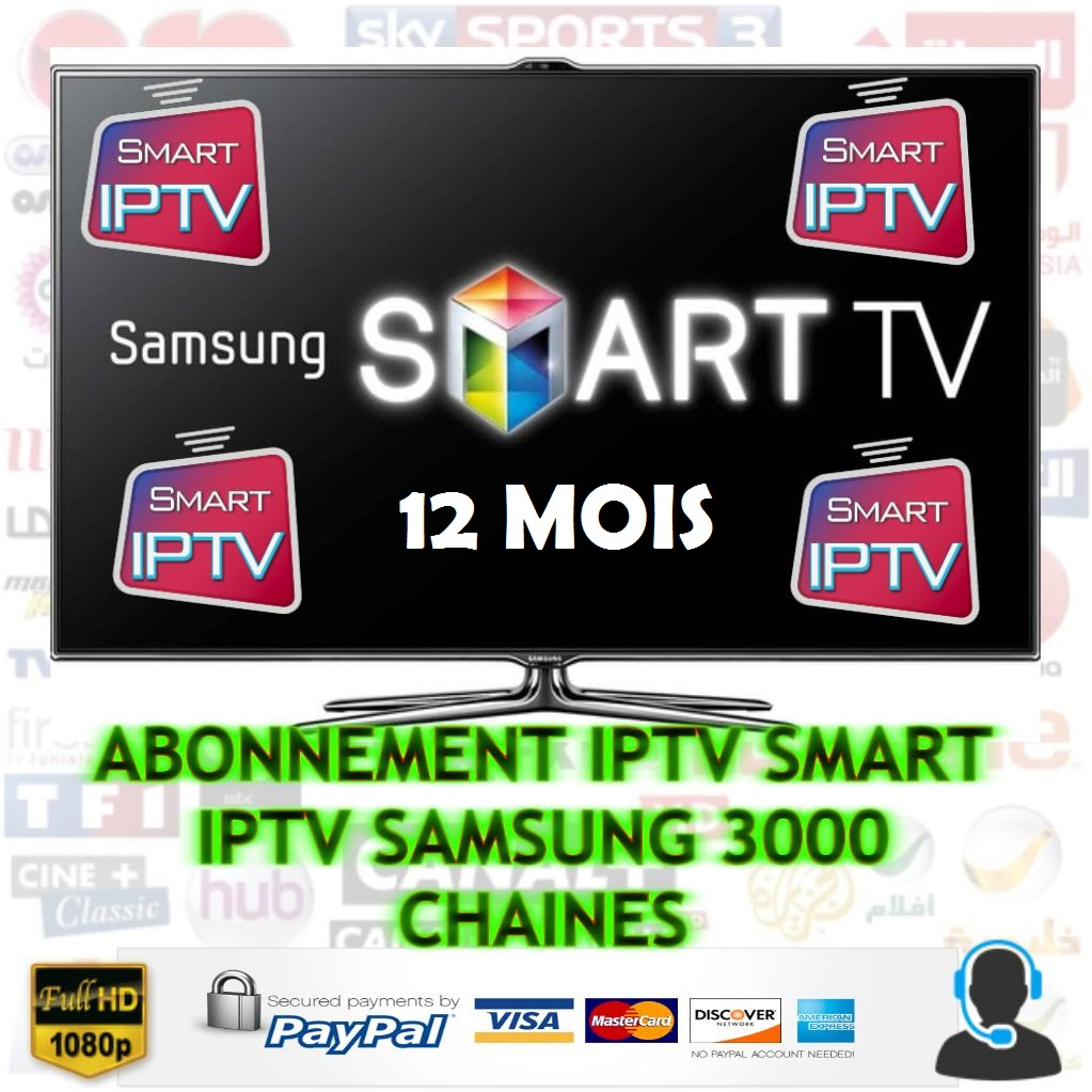 abonnement smart iptv samsung smart tv 12 mois pas cher. Black Bedroom Furniture Sets. Home Design Ideas