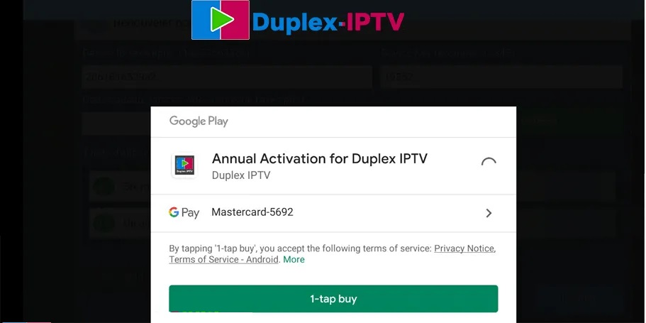 payer duplex iptv